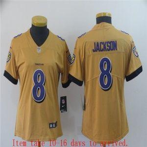 Women Baltimore Ravens Lamar Jackson Jersey